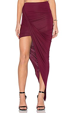 BLQ BASIQ Wrap Skirt in Burgundy