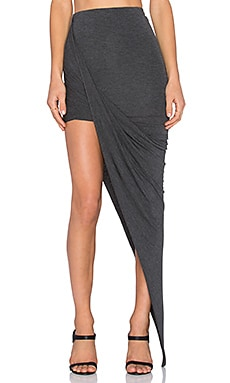 BLQ BASIQ Wrap Skirt in Charcoal