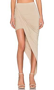 x REVOLVE Exclusive Wrap Skirt en Nude