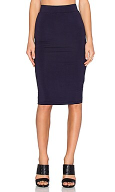BLQ BASIQ Pencil Skirt in Navy