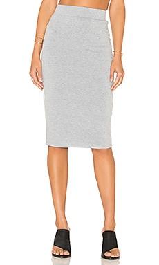 BLQ BASIQ Pencil Skirt in Heather Grey