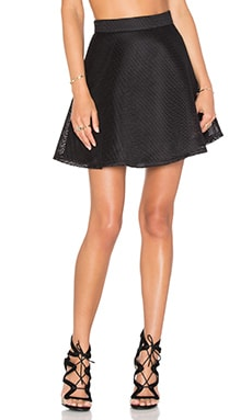 BLQ BASIQ Mesh Skirt in Black