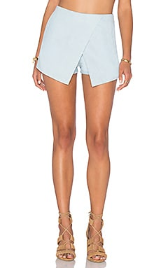 BLQ BASIQ Chambray Skort in Light Denim