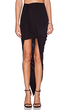 BLQ BASIQ Wrap Maxi Skirt in Black