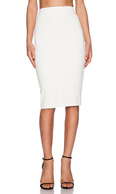 BLQ BASIQ High Waisted Skirt in White
