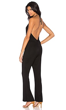 BLQ BASIQ Halter Low Back Jumpsuit in Black