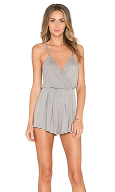 BLQ BASIQ Sleeveless Romper in Grey