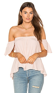 Bare Shoulder Top in Pale Blush