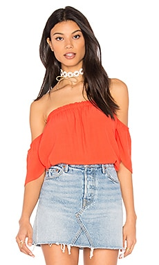 Bare Shoulder Top in Coral