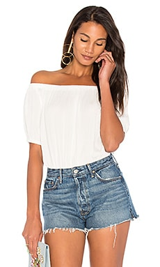 Off Shoulder Open Back Bodysuit