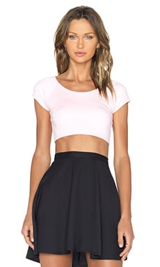 BLQ BASIQ Crop Top in Light Pink