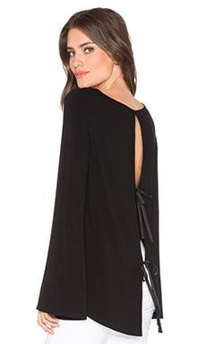 BLQ BASIQ Long Sleeve Top in Black