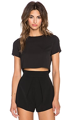 BLQ BASIQ Crop Top in Black