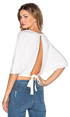 BLQ BASIQ Open Back Top in White