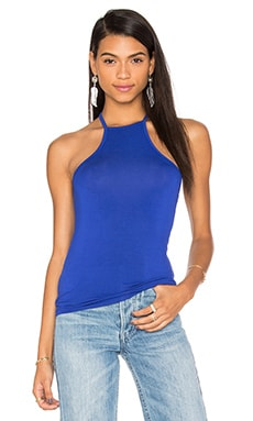 BLQ BASIQ High Neck Top in Royal Blue