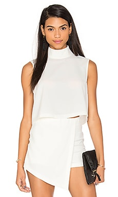 Mock Neck Top in White