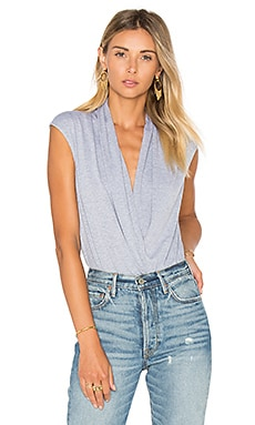 Ruching Bodysuit in Heather Grey