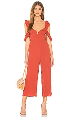 Ruffle Sleeve Jumpsuit Blue Life $86