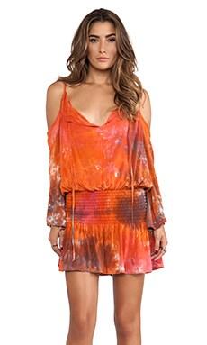 Shirred Waist Halter Dress