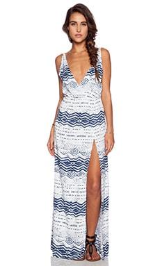 Blue Life High Tide Maxi Dress in Nautical Print