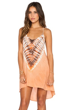 Blue Life Exile Dress in Coral Reef Tie Dye
