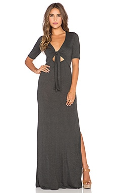 Blue Life Tie Me Up Maxi Dress in Lava Grey