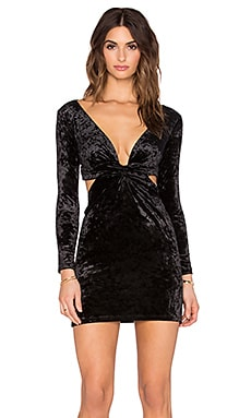 Blue Life BB Dress in Black Velvet