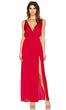Blue Life High Tide Maxi Dress in Scarlet
