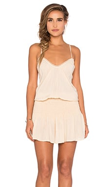 Criss Cross Back Halter Dress in Seashell