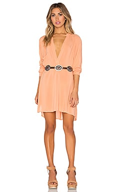 Shirt Dress in Papaya