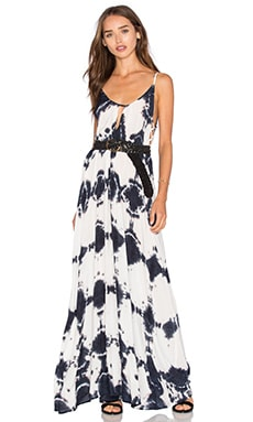 Desert Night Maxi Dress in Black Amethyst