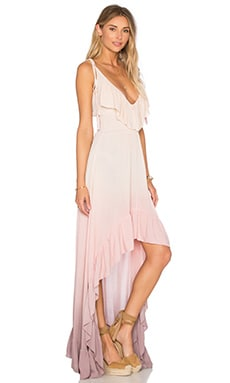 Hi Low Ruffle Dress en Magic Ombre