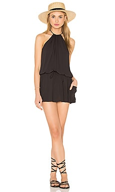 Island Life Halter Dress in Soft Black