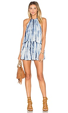 Island Halter Dress in Boho Stripe