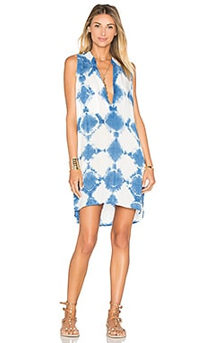 Blue Life Sleeveless Shift Dress in Boho Tie Dye