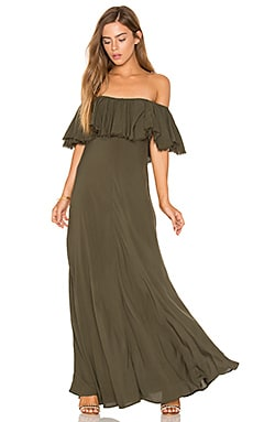 Aphrodite Maxi Dress in Olive