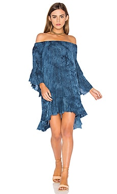 Callista Ruffle Dress in Mediterranean