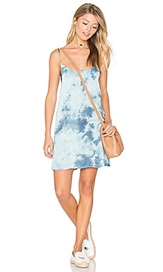 Christy Slip Dress en Blue Hawaii