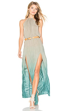 Slit Halter Dress in Capri Ombre