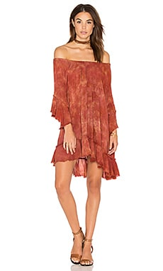 Callista Ruffle Dress in Mykonos Sunset