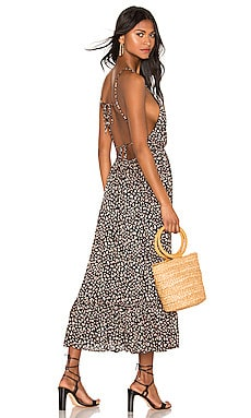 Baylee Midi Dress Blue Life $196 NEW ARRIVAL