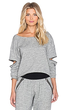 Blue Life Open Arm Pullover in Steel Grey