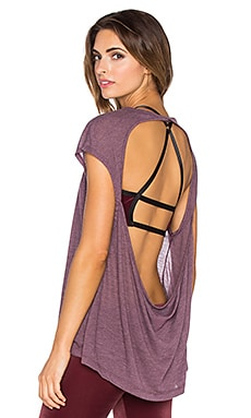 Blue Life Fit Open Back Tee in Garnet