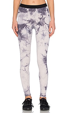 Blue Life Fit Tie Dye Leggings in Ash