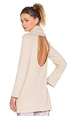 Blue Life Cozy Tunic in Oatmeal