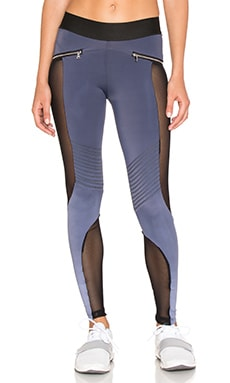 Mesh Moto Legging in Charcoal Ombre