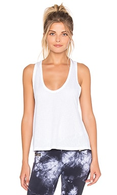 Blue Life Scoop Tank in White