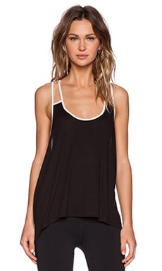 Blue Life Fit Double Strap Tank in Black