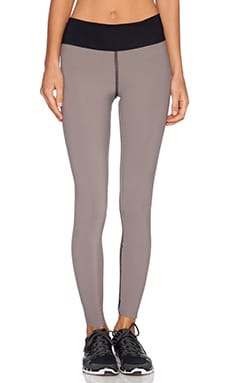 Blue Life Fit Reversible Bonded Legging in Taupe & Black