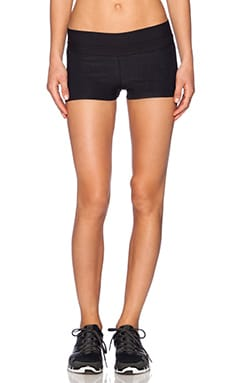 Blue Life Fit Silhouette Yoga Short in Black